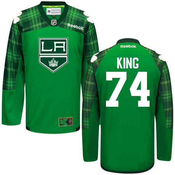 Kings 74 Dwight King Green St. Patrick's Day Reebok Jersey