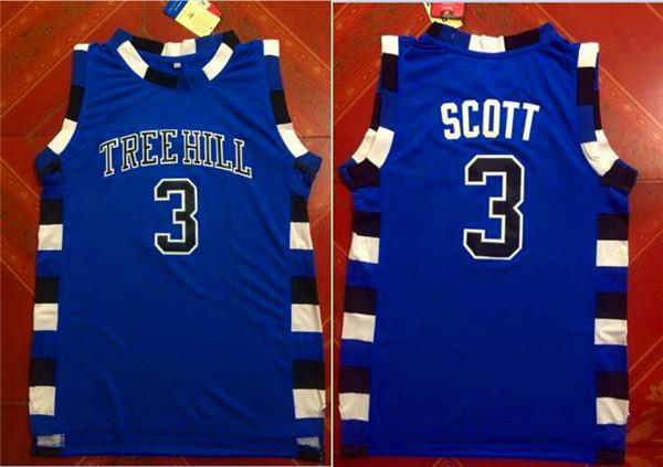 One Three Hill 3 Scott Blue Stitched Jersey