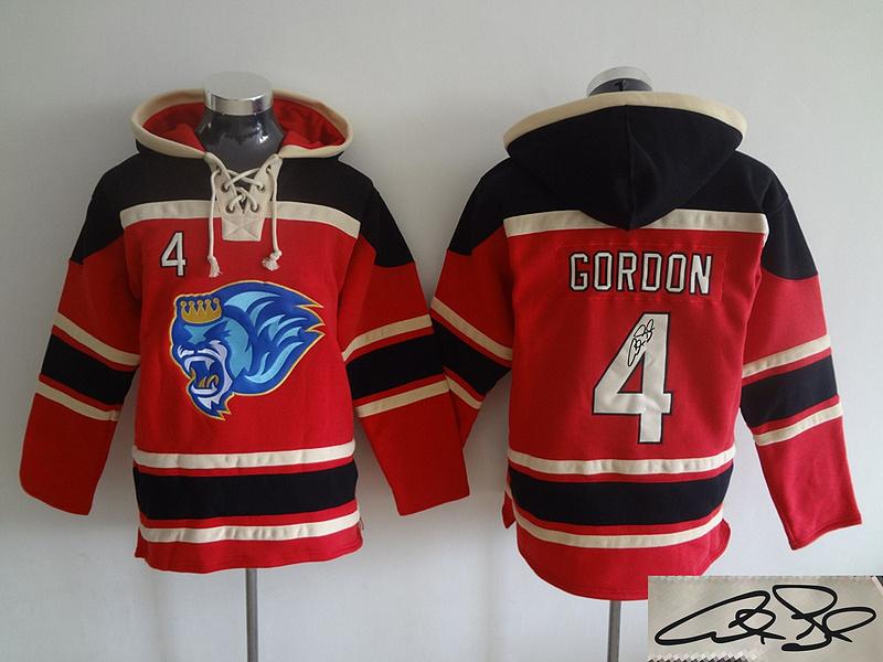 Royals 4 Alex Gordon Red Signature Edition All Stitched Hooded Sweatshirt