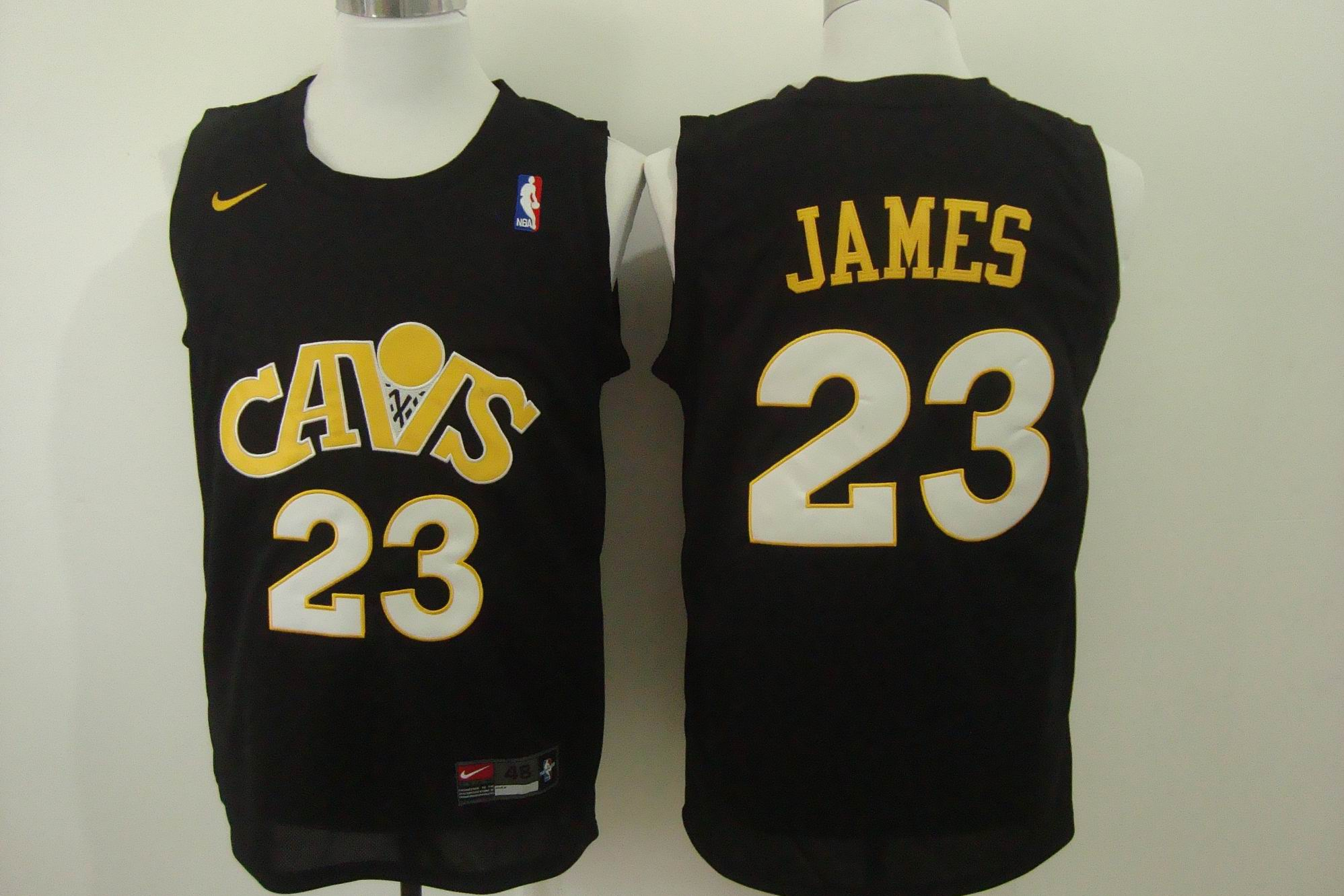 Cavaliers 23 Lebron James Black Fashion Jersey