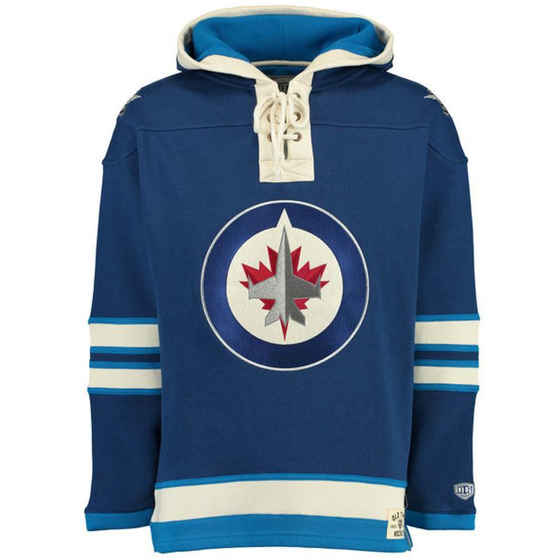 Jets Blue Men's Customized All Stitched Sweatshirt