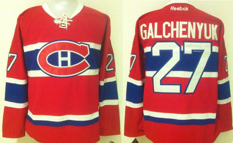Canadiens 27 Alex Galchenyuk Red Reebok Jersey