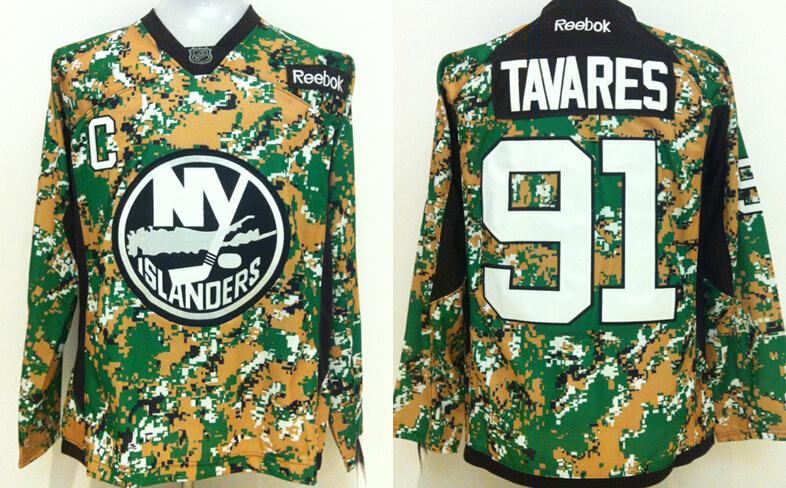 Islanders 91 John Tavares Digital Camo Veteran's Day Reebok Jersey