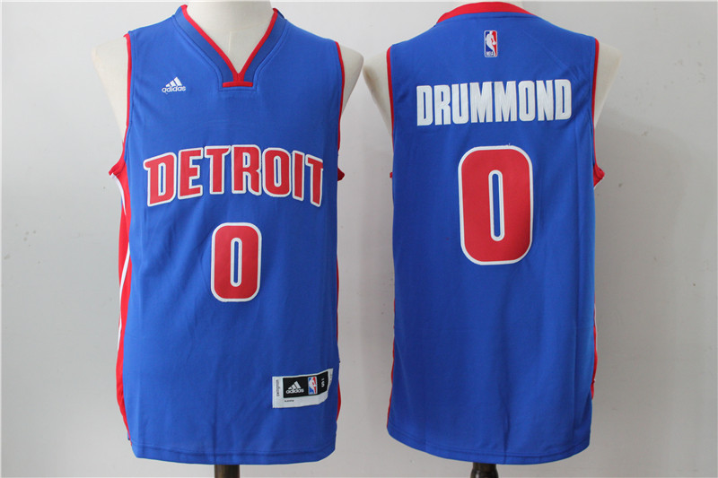 Pistons 0 Andre Drummond Blue Swingman Jersey