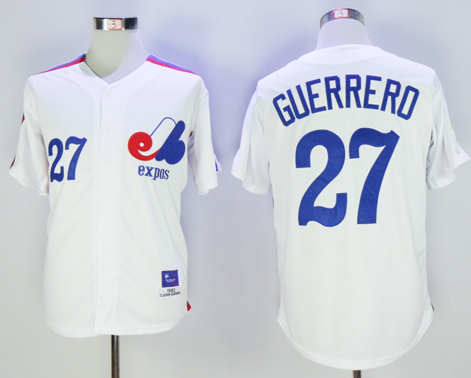 Expos 27 Vladimir Guerrero White 1982 Throwback Jersey