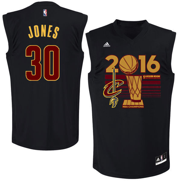 Cavaliers 30 Dahntay Jones Black 2016 NBA Finals Champions Jersey
