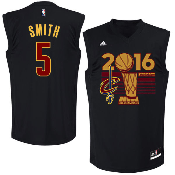 Cavaliers 5 J.R. Smith Black 2016 NBA Finals Champions Jersey