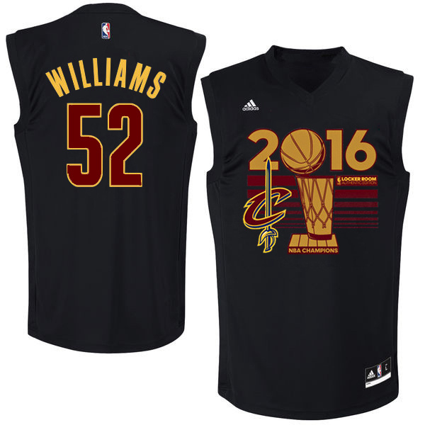 Cavaliers 52 Mo Williams Black 2016 NBA Finals Champions Jersey