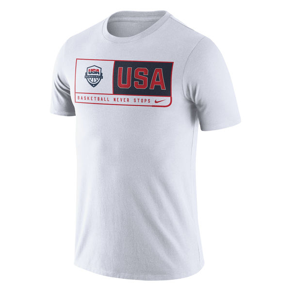 USA Basketball Nike Team Dri FIT T-Shirt White