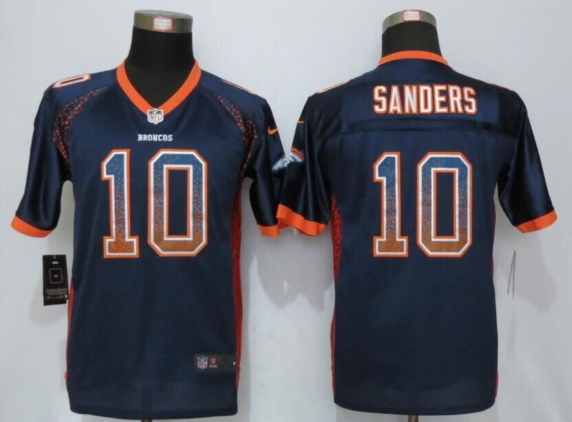 Nike Broncos 10 Emmanuel Sanders Blue Youth Drift Fashion Jersey