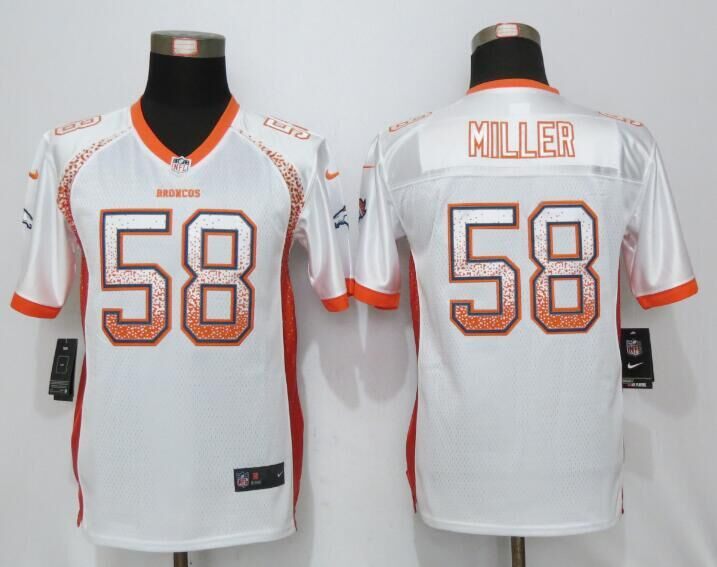 Nike Broncos 58 Von Miller White Youth Drift Fashion Jersey
