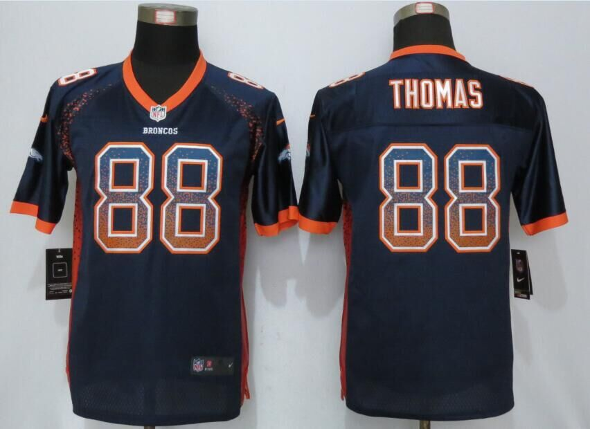 Nike Broncos 88 Demaryius Thomas Blue Youth Drift Fashion Jersey