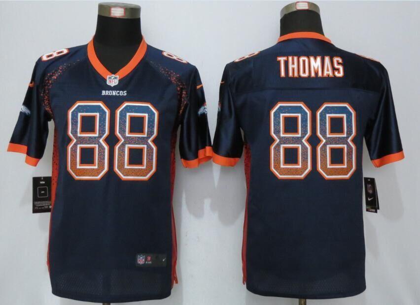 Nike Broncos 88 Demaryius Thomas Blue Youth Drift Fashion Jersey