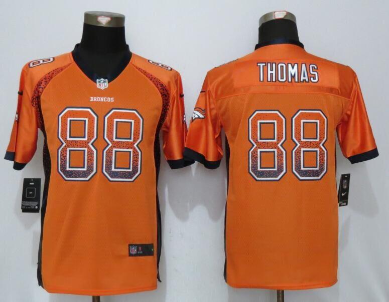 Nike Broncos 88 Demaryius Thomas Orange Youth Drift Fashion Jersey