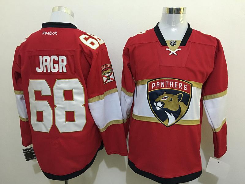 Panthers 68 Jaromir Jagr Red New Logo Reebok Jersey