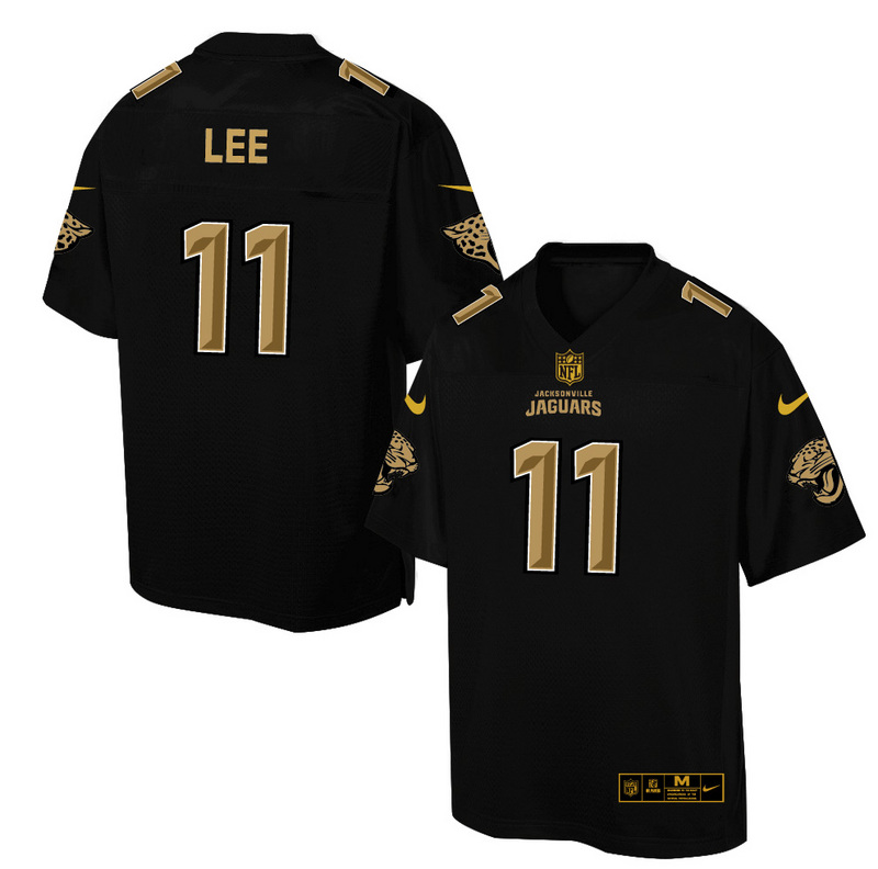 Nike Jaguars 11 Marqise Lee Pro Line Black Gold Collection Elite Jersey