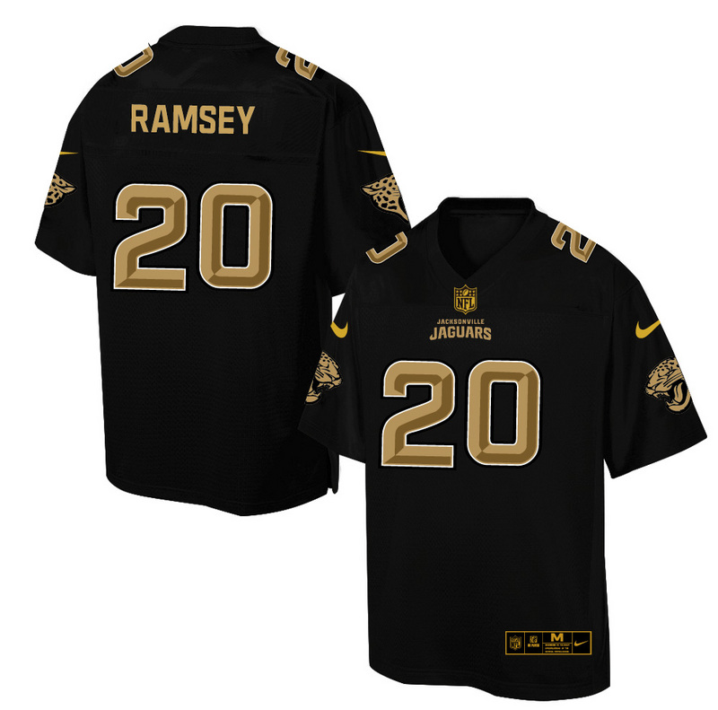 Nike Jaguars 20 Jalen Ramsey Pro Line Black Gold Collection Elite Jersey