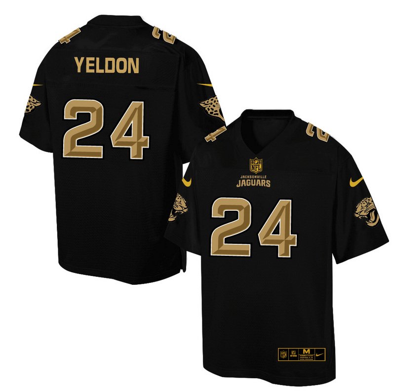 Nike Jaguars 24 T.J. Yeldon Pro Line Black Gold Collection Elite Jersey