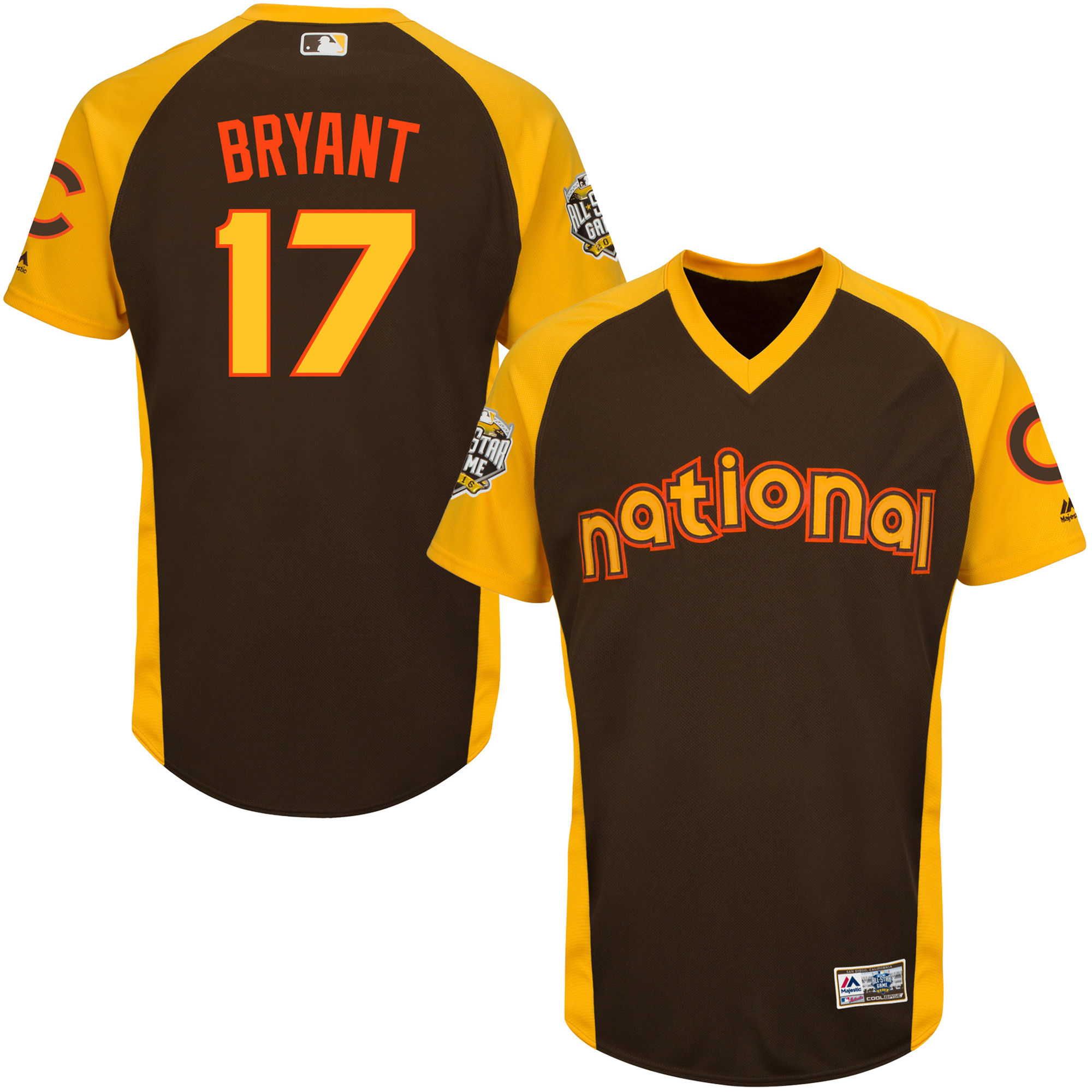 Cubs 17 Kris Bryant Brown Youth 2016 All-Star Game Cool Base Batting Practice Player Jersey