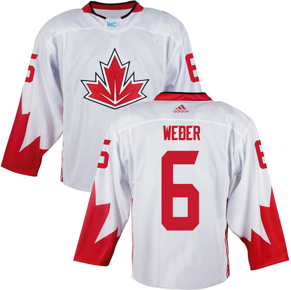 Canada 6 Shea Weber White World Cup of Hockey 2016 Premier Player Jersey