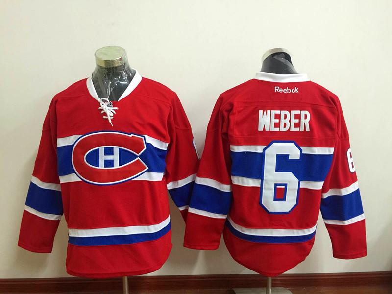 Canadiens 6 Shea Weber Red Reebok Jersey