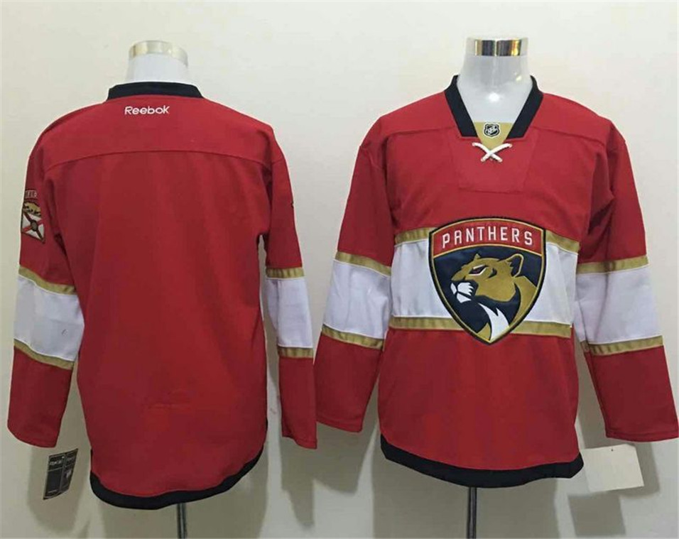 Panthers Blank Red Reebok Jersey