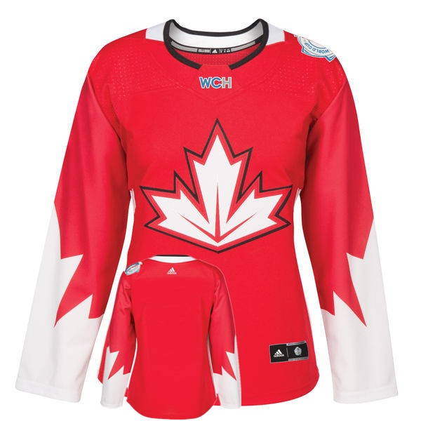 Canada Blank Red Women World Cup of Hockey 2016 Player Jersey
