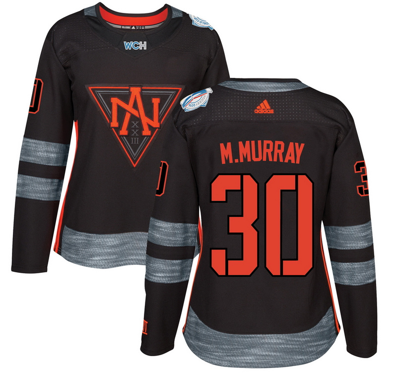North America 30 Matt Murray Black Women World Cup of Hockey 2016 Player Jersey