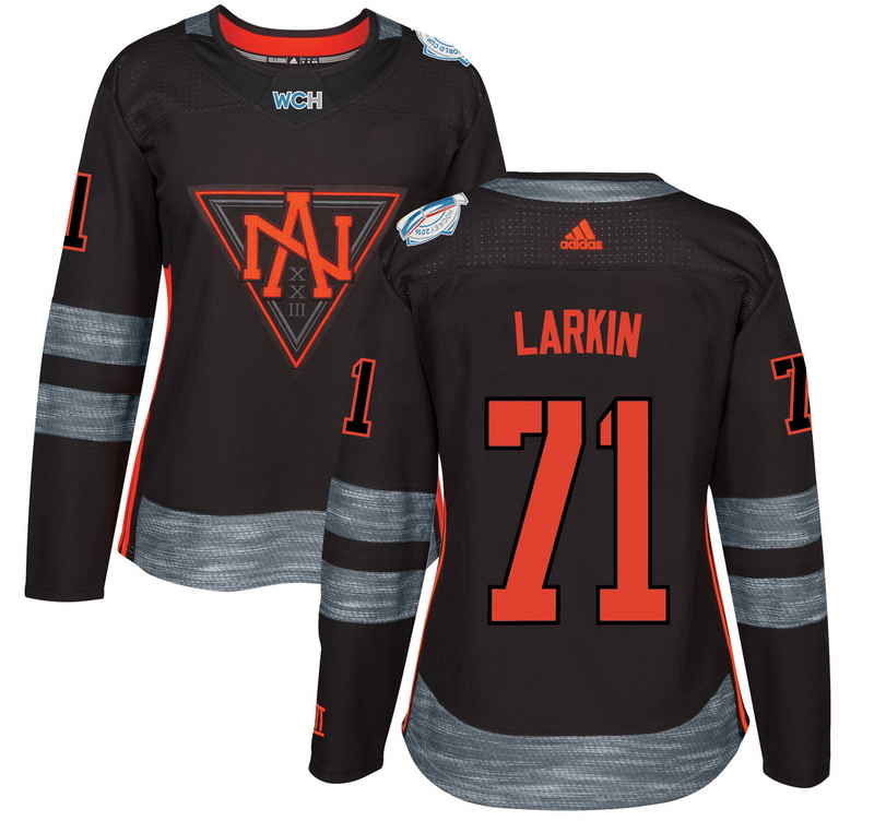 North America 71 Dylan Larkin Black Women World Cup of Hockey 2016 Player Jersey