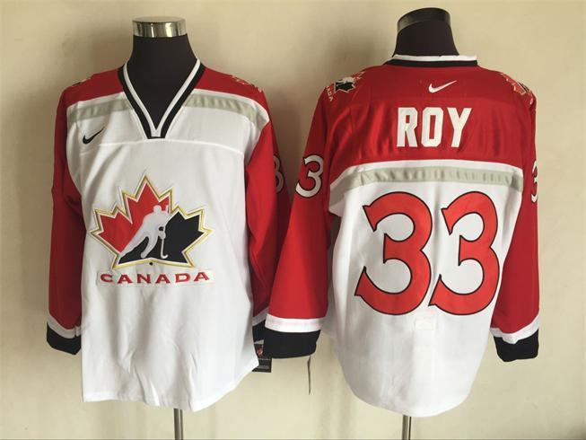 Team Canada 33 Patrick Roy White 2002 Olympics Nike Hockey Jersey