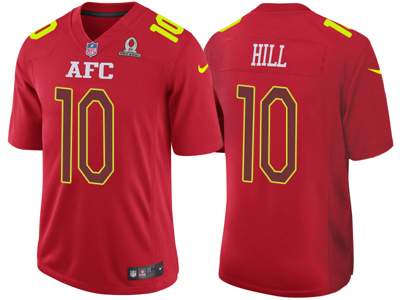 Nike Chiefs 10 Tyreek Hill Red 2017 Pro Bowl Game Jersey