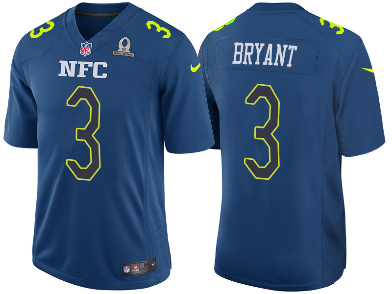 Nike Falcons 3 Matt Bryant Blue 2017 Pro Bowl Game Jersey