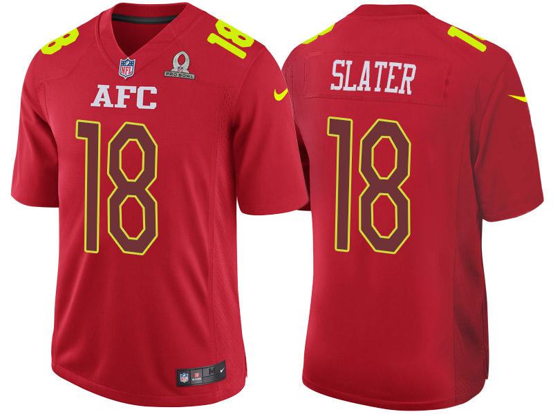 Nike Patriots 18 Matthew Slater Red 2017 Pro Bowl Game Jersey
