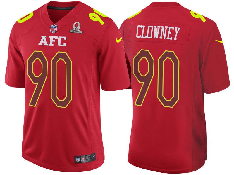 Nike Texans 90 Jadeveon Clowney Red 2017 Pro Bowl Game Jersey