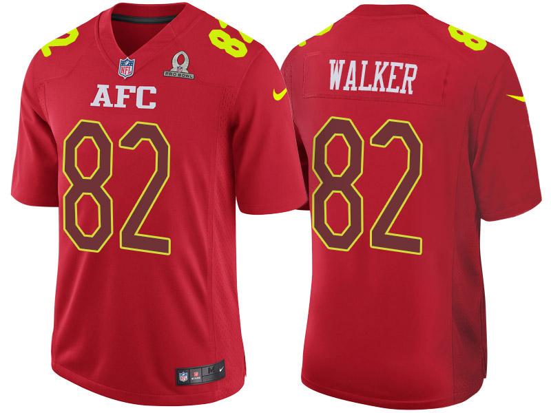 Nike Titans 82 Delanie Walker Red 2017 Pro Bowl Game Jersey