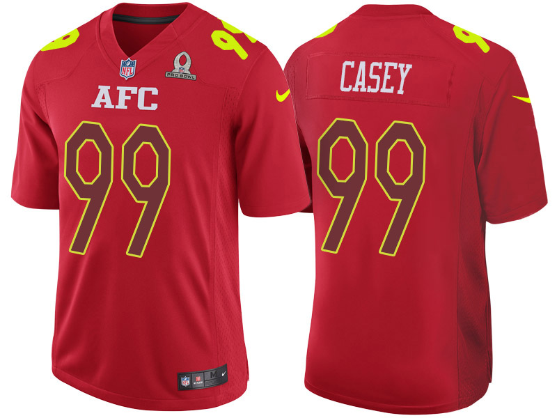 Nike Titans 99 Jurrell Casey Red 2017 Pro Bowl Game Jersey