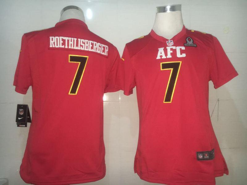 Nike Steelers 7 Ben Roethlisberger Red 2017 Pro Bowl Women Game Jersey
