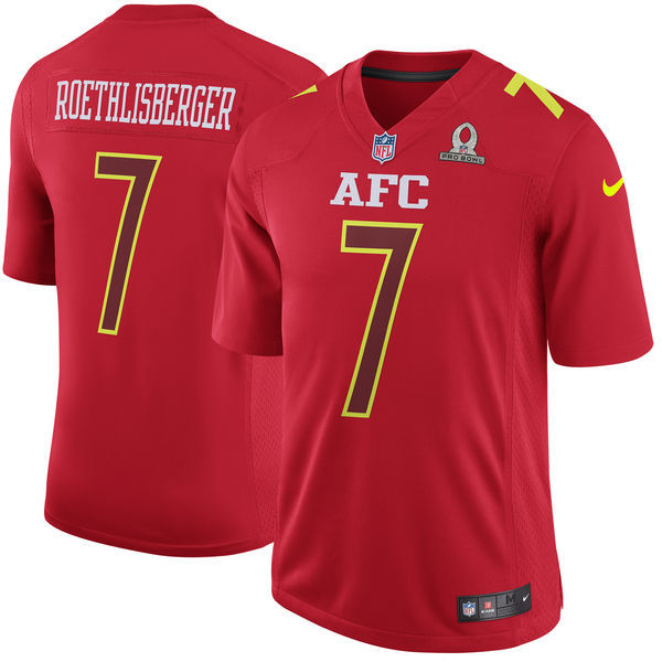 Nike Steelers 7 Ben Roethlisberger Red 2017 Pro Bowl Youth Game Jersey