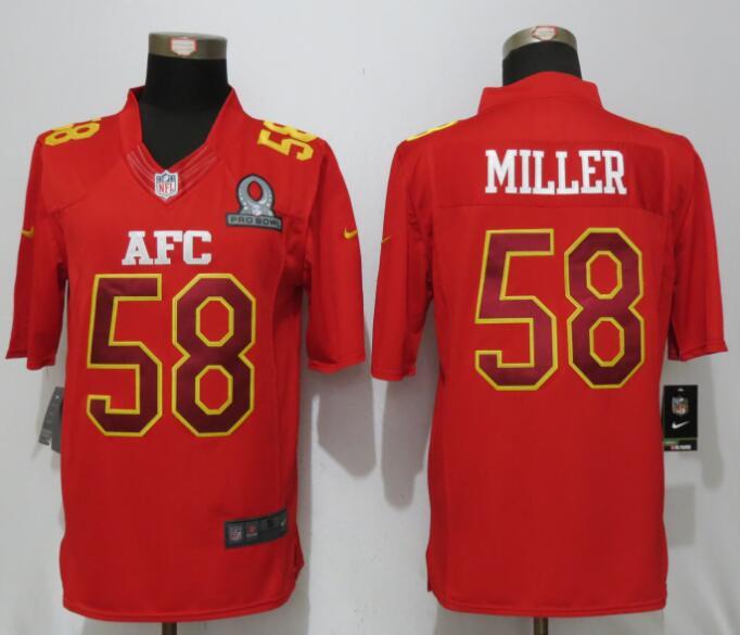 Nike Broncos 58 Von Miller Red 2017 Pro Bowl Limited Jersey