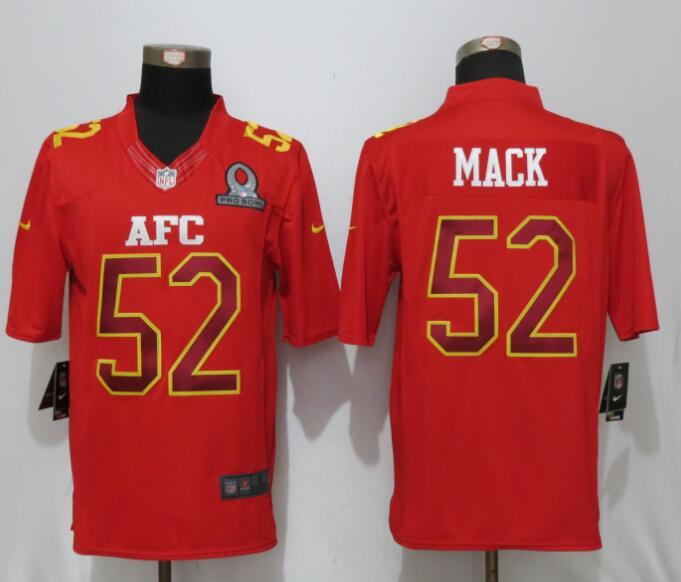 Nike Raiders 52 Khalil Mack Red 2017 Pro Bowl Limited Jersey