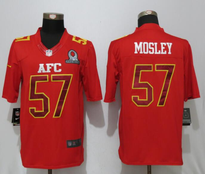 Nike Ravens 57 C.J. Mosley Red 2017 Pro Bowl Limited Jersey