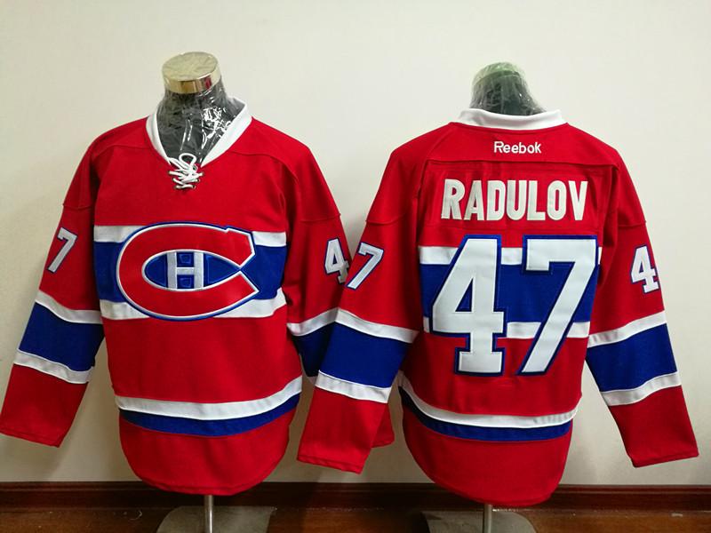 Canadiens 47 Alexander Radulov Red Reebok Jersey