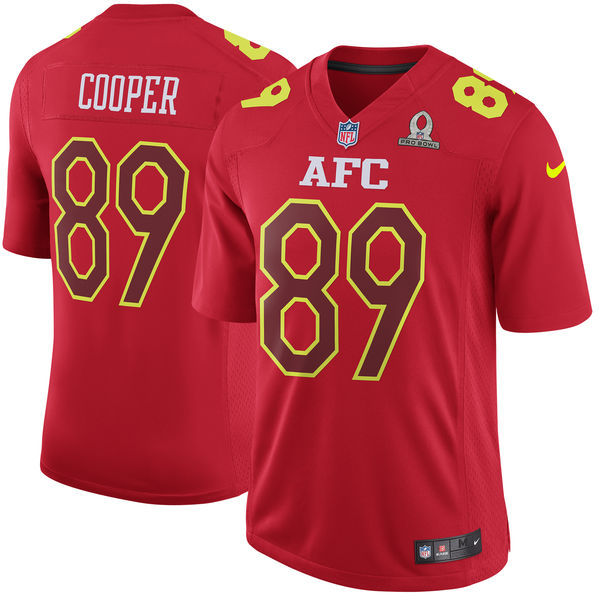 Nike Raiders 89 Amari Cooper Red 2017 Pro Bowl Game Jersey