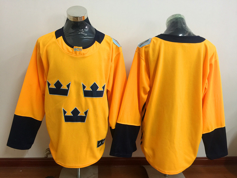 Sweden Blank Gold Hockey Premier Player Jersey