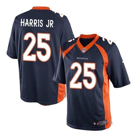 Nike Broncos 25 Chris Harris Jr Navy Youth Game Jersey