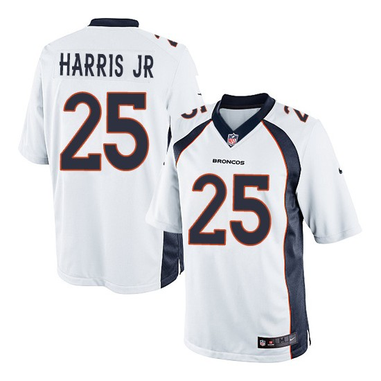 Nike Broncos 25 Chris Harris Jr White Youth Game Jersey