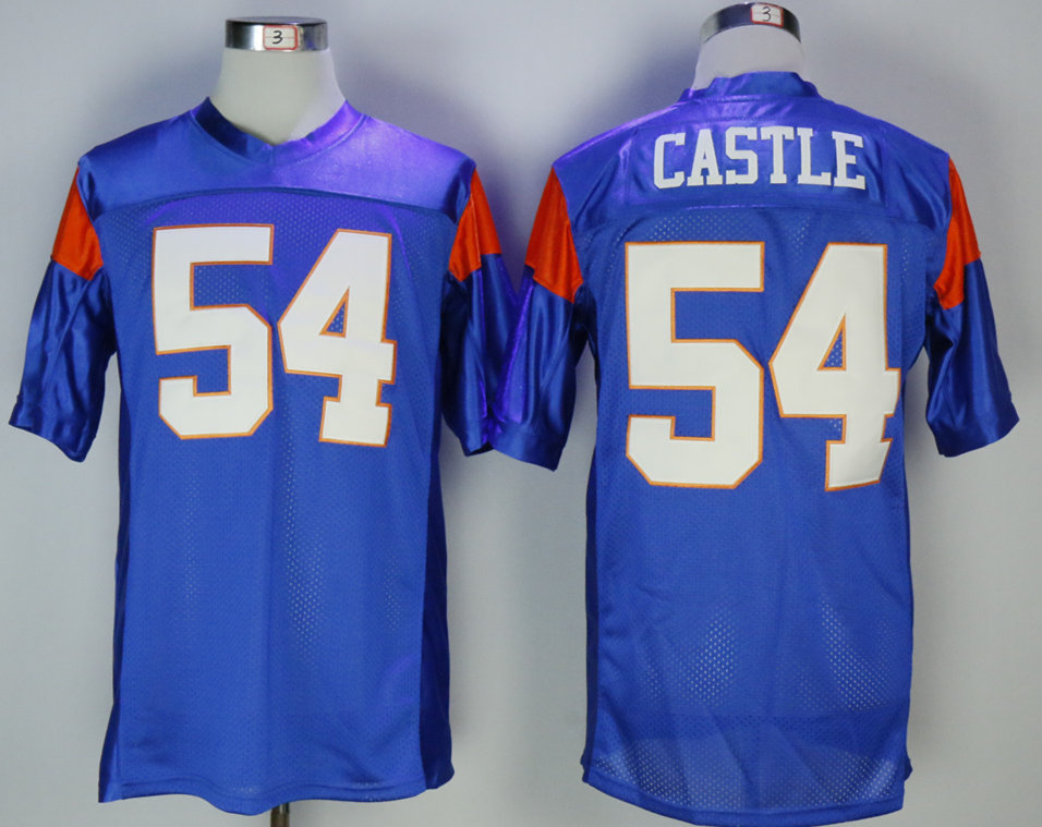 Blue Mountain State 54 Alan Castle Blue Movie Football Jersey