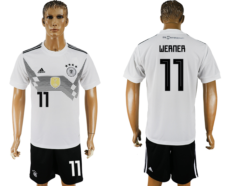 Germany 11 WERNER Home 2018 FIFA World Cup Soccer Jersey