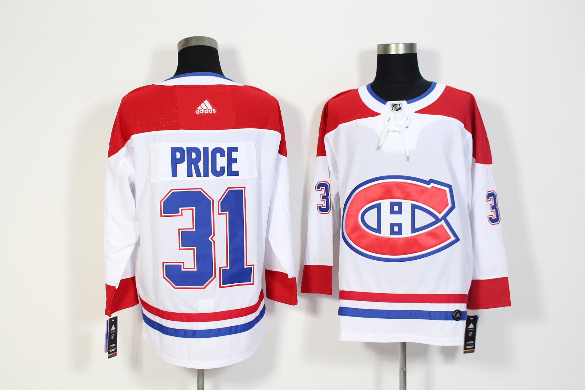 Canadiens 31 Carey Price White Adidas Jersey