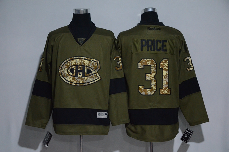 Canadiens 31 Carey Price Olive Green Salute to Service Reebok Jersey